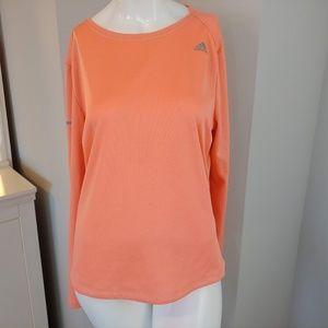 Womens XL Adidas longsleeve active top peach